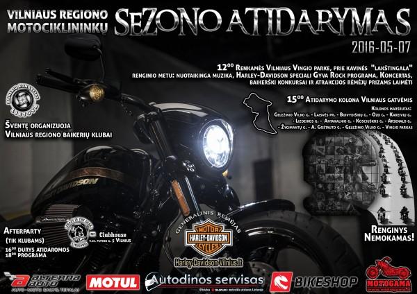 Vilniaus Vingio parke griaudės motociklai